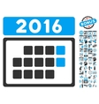 2016 Month Calendar Flat Icon With Bonus vector image vector image