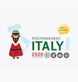 2020 italy postponement carnival festival vector image vector image