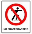 a no skateboarding allowed vector image