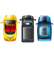 A topview of the parked cars vector image vector image