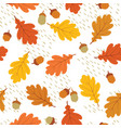 autumn leaves seamless pattern fall leaf vector image vector image