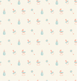 Baby patternOrangeturquoise beige colors vector image vector image