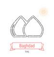 baghdad iraq line icon