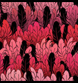 beautiful seamless pattern bright bird feathers vector image