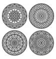 black circle mandala set vector image