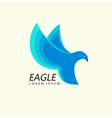 blue eagle attacking flight trendy minimalistic vector image