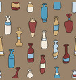 bottles coloured seamless retro pattern vector image