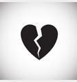 broken heart on white background vector image