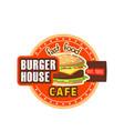 burger house restaurant cheeseburger icon vector image vector image