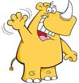 Cartoon Rhino Waving vector image vector image