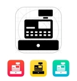 Cash register machine icon vector image