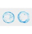 circle water splash liquid aqua frame round shape vector image vector image
