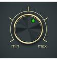 Circular Metal Controller with Button vector image
