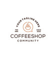 coffee talk logo design icon vector image vector image