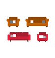 collection of comfortable sofa and chair models vector image vector image