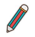colorful school pencil graphic vector image vector image
