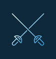 crossed rapiers colorful concept outline vector image vector image