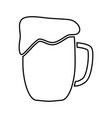 cup beer black color icon vector image vector image
