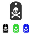 death sticker flat icon vector image vector image