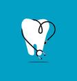 dental logo template design vector image
