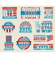 Encourage voting USA 2016 labels and vector image vector image