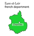 Eure-et-Loir french department map vector image vector image