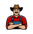 farmer logo or symbol agriculture farm concept vector image vector image