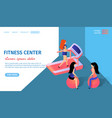 fitness center horizontal banner with copy space vector image vector image