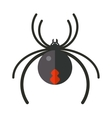 Flat spider insect danger silhouette icon vector image vector image