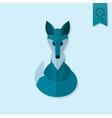 Fox Single Flat Autumn Icon vector image