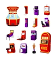 Game Machine Icons Set vector image vector image