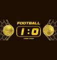 gold soccer or golden football black banner with vector image vector image