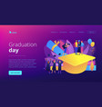 graduation concept landing page vector image vector image