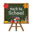 green chalkboard with wooden frame vector image vector image