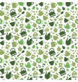 green tea set icons on background vector image vector image