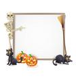 halloween skeleton sign vector image