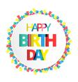 Happy birthday on paper label vector image vector image