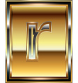 Ingot Font Letter r vector image