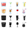 isolated object liquor and restaurant symbol vector image vector image