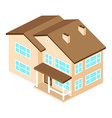 isometric suburban american house for web design vector image vector image