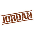 jordan brown square stamp vector image vector image