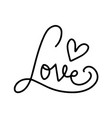 letterong text - love abstract love symbol line vector image vector image