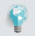 Light bulb with cloud of application vector image vector image