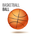 orange basketball ball isolated realistic vector image vector image