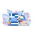 people learning greek language vector image vector image