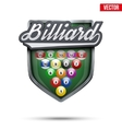 Premium symbol of Billiard label vector image vector image
