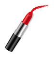 Red bright lipstick vector image