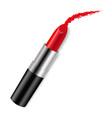 red bright lipstick vector image