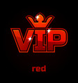 red vip symbol vector image vector image