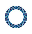 round frame made realistic blue amethysts vector image